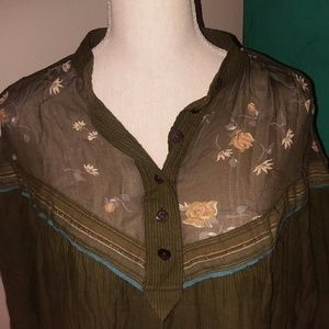 Free People over-sized olive green tunic